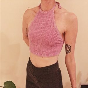 Urban Outfitters, halter, crop top